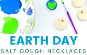 EARTH DAY SALT DOUGH NECKLACKES