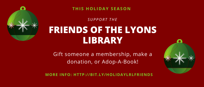 Support the Friends of the Library this holiday season.